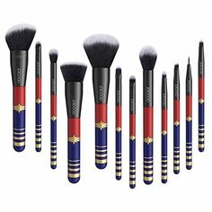Docolor 12 Pieces Makeup Brushes Starlight Goddess Professional Makeup Brush Set Face Powder Foundation Blending Blush Contour Concealer Eye Shadow Eyeliner Make Up Brushes Kit Diy Makeup Brush, Makeup Brush Storage, Make Makeup, Best Makeup Brushes, Makeup Brush Cleaner, How To Clean Makeup Brushes, Makeup Brush Holders, Makeup Brush Set, Makeup Tools