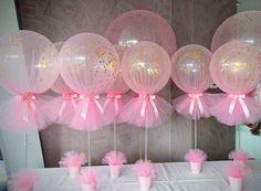 Resultado de imagen para globos de helio con tul