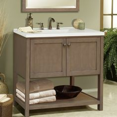 Features:  -Aiden Bath collection.  -Material: Hardwood solids and veneers…