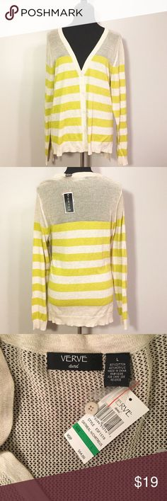 New With Tags long cardigan NWT Verve Ami loose, boyfriend fit cardigan. It's size large but could fit and looks good on S, M, or Large depending on how loose you want it to hang. Sweaters