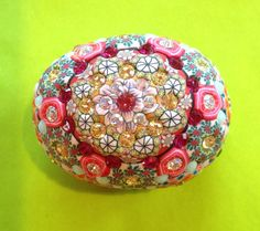 Billie+Beads+Fauxberge+Egg+Treasure+Box.+Millefiore+by+BillieBeads,+$100.00