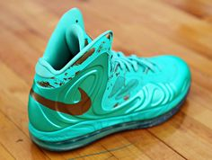 "new arrival d982f cbd8a Nike Hyperposite ""Statue Of Liberty"" Mint Green Shoes, Fresh Kicks, Statue  Of"