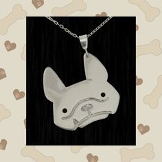 Bowsie the Frenchie is an adorable sterling silver pendant. Bowsie is our store's very special character that is the alter ego of Kimmie's real life French Bulldog named Bowser. French Bulldogs are known to be the clowns of the dog world and true to this description they are funny and charismatic dogs with a great sense of humor. With that in mind, this Bowsie pendant is perfect for all the frenchie lovers out there who have come to and will continue to love and cherish this wonderful breed.