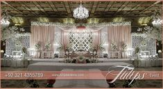 Find the best Pink white Pakistani wedding stage setup ideas by Tulips Events in Lahore, exclusive Pakistani wedding decoration, creative stage decor ideas Wedding Stage Backdrop, Wedding Stage Decorations, Wedding Props, Outdoor Wedding Reception, Wedding Catering, Diy Wedding, Wedding Venues, Reception Ideas, Reception Backdrop