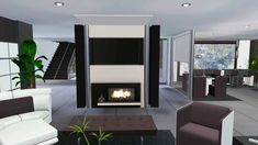 Sims 3 Celebrity Luxury House VR .2 (Modern Design)looks
