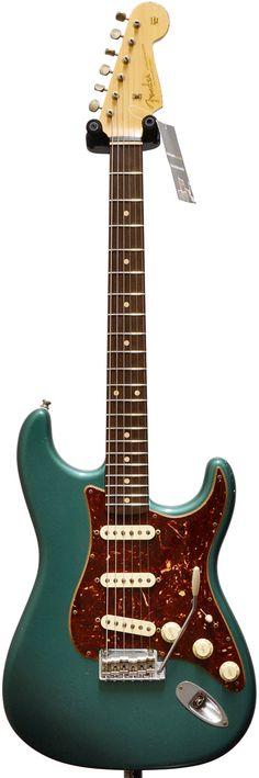 Fender Stratocaster. Sherwood Green with Tortoiseshell Scratchplate.
