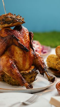 Beer can chicken is so last year. Beer can chicken is so last year. Beer Can Chicken, Roast Chicken Recipes, Canned Chicken, Roasted Chicken, Rotisserie Chicken, Fried Chicken, Pineapple Chicken, Pineapple Beer, Desert Recipes