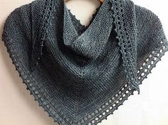 Jane Junter's Simple Shawl.  #SteelCityFiber