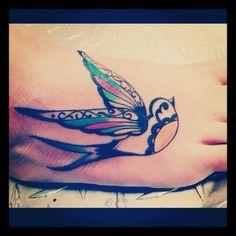 Gorgeous sparrow tattoo