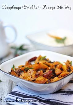 A simple recipe with Papaya…Quick to make and delicious to have… Kapplanga (Omakka)Ularthu Recipe – Papaya Stir Fry Recipe Prepration time : 10 mins Cooking time : 10 mins Serves : 4 Ingredients : Kapplanga/Semi ripe Papaya or Green Unripe Papaya : 2 cup (deskinned,cleaned and cut 1″ long pieces) Shallots/Small Red Onions : 5-6 …