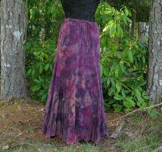 Bohemian Gypsy Festival Hippie Maxi Rhye  Fairy Skirt: Artistic Rock inspired Bohemian Clothing. One of a kind, handmade, recycled, artworks