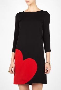 Moschino Cheap & Chic Heart Tunic Dress in Black