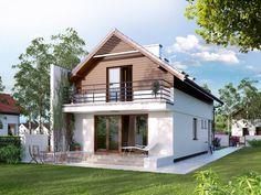 Casas de estilo Moderno por BIURO PROJEKTOWE MTM STYL