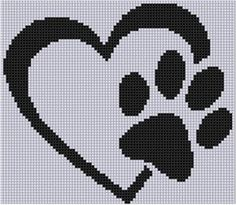 Looking for your next project? You're going to love Paw Heart Cross Stitch Pattern by designer Motherbeedesigns. Looking for your next project? You're going to love Paw Heart Cross Stitch Pattern by designer Motherbeedesigns. Cross Stitching, Cross Stitch Embroidery, Embroidery Patterns, Hand Embroidery, Cross Stitch Heart, Cross Stitch Animals, Cross Heart, Cross Stitch Pillow, Pixel Art Coeur