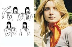 Tying Women's Scarves Guide - How to Wear a Scarf Ways To Wear A Scarf, How To Wear Scarves, Short Scarves, Neck Scarves, Head Scarf Styles, Small Scarf, Fashion Now, Square Scarf, Womens Scarves