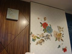 Stitched wallpaper: Claire Coles