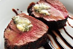 beef tenderloin roast with zinfandel reduction and herbed butter