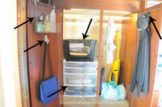 Ways to maximize a closet in a small space :: OrganizingMadeFun.com