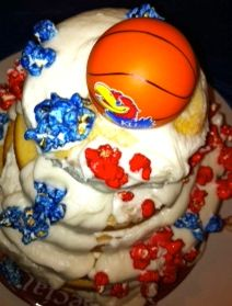 Rock Chalk Birthday Cake. This came with a charitable donation to KU (of course). Eat cake. Do good.