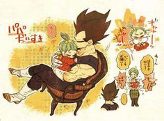 I just love the pictures of Vegeta with Bra <3