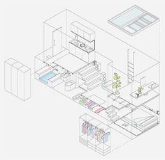 아주 작은집 인테리어 디자인 :: 작은 스튜디오 아파트 인테리어 아주 작은 공간안에 침실, 거실, 부엌, 홈오피스, 욕실까지 있는 실용만점 아파트입니다. 복층 형태로 만들어져 공간구분이 잘 되어 있습니다. http://www.mycc.es/ 아주 작은집 인테리어 디자인 :: 작은 스튜디오 아파트 인테리어
