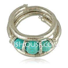 Jewelry - $9.99 - Fashion Alloy With Cat'seye Ladies' Bracelets (011028882) http://jjshouse.com/Fashion-Alloy-With-Cat-Seye-Ladies-Bracelets-011028882-g28882