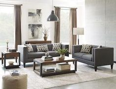 Sawyer modern sofa and loveseat 2pc set NEW by Scott Living, Coaster CO-506191-S2