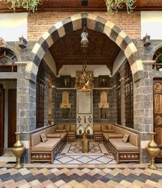 Old  Damascus, stone flooring. I want a Syrian home in America. Can we make that happen?