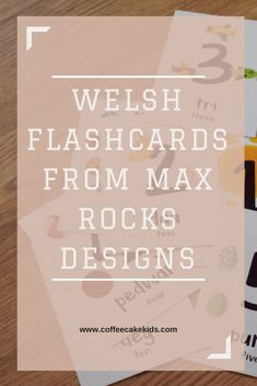 Welsh Flashcards from Max Rocks Designs