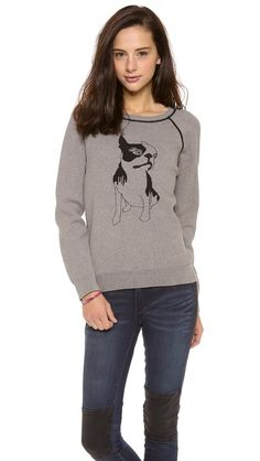 Marc by Marc Jacobs Olive Dog Intarsia Sweatshirt.  My dog is all trendy and fashionable!