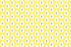 Pear Pale Yellow fabric by louise_brainwood_designs on Spoonflower - custom fabric