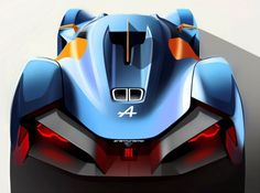 Alpine Vision Gran Turismo Concept Design Sketch by Tibor Juhasz - Car Body Design