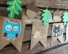Fox de Fox woodland Cupcake Toppers Baby por BlueOakCreations