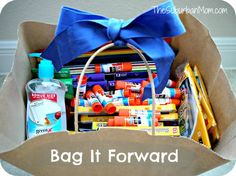 Bag It Forward with Back to School Supplies and Elmer's