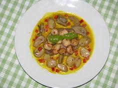 Scoici St.Jaques (scallops) si ciuperci in sos redus de peste