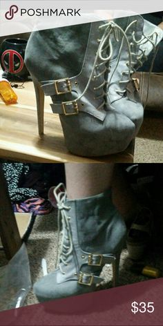 Lace up booties High heeled lace up booties Shoes Ankle Boots & Booties