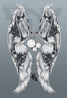 deviantART: More Like Firefly Wings Tattoo Design by ~roguewyndwalker