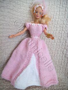 """Free tutorial barbie: princess dress """"Corinne"""""""