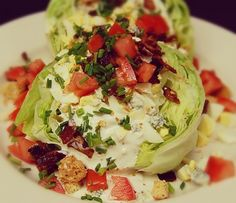 Baby Wedge Salad - great for lunch or a starter to a family meal!