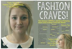 Final Double page Spread My Magazine, Keep Warm, Spreads, Beauty Hacks, Fashion Show, Day, Tips, Design, Beauty Tricks