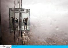 Glass box balcony