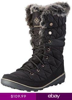 9544e87b70 Columbia Womens Heavenly Omni-Heat Lace Up Boots Black 1702881-010 Size 9  Clima