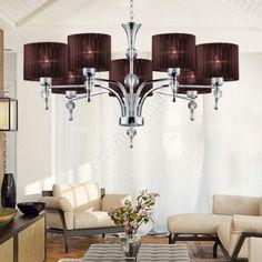 AZzardo Impress 7 Brown - Függő lámpák Brown Pendants, Chandelier, Bulb, Ceiling Lights, Luxury, Interior, Table, Lighting, Home Decor