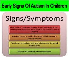 Early Signs Of Autism In Children