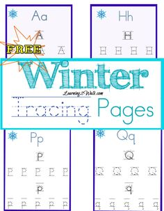Free winter tracing pages for preschoolers