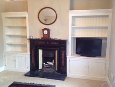 Pair of Alcove Units Painted French White christy bird