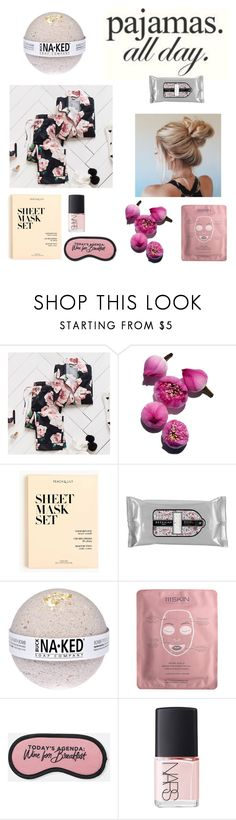 """""""Pretty in Pjs"""" by angel-luis ❤ liked on Polyvore featuring PBteen, J.Crew, Beekman 1802, 111Skin, NARS Cosmetics and LovelyLoungewear"""