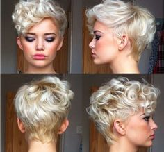 short hair style with a little punk rock curl