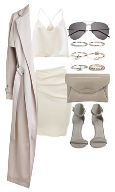"""""""Untitled #19945"""" by florencia95 ❤ liked on Polyvore featuring Lanvin, By Malene Birger, Boohoo and Yves Saint Laurent"""