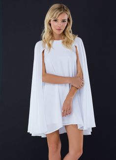 Super Jane Cape Shift Dress